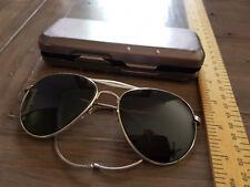 Genuine RAF WW2 Sunglasses Spectacles MKII 22C/1369 Medium Sleeve & Metal Case