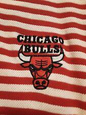 Nwt Pro Edge Nba Chicago Bulls Basketball Red/White Polo/Golf Style Shirt Sz Xl