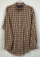 Ralph Lauren Blair men's long sleeve button down shirt, sz L, Red plaid