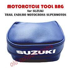 Suzuki Werkzeugtasche Tasche Blau mit Weißem Logo für Probe Enduro Trails