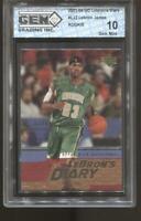 2003-04 Lebron James UD Lebron's Diary #LJ2 Gem Mint 10 RC Rookie LA Lakers
