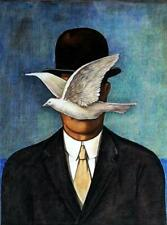 RENE MAGRITTE / Authentic Mixed Media Drawing on Paper, Art Painting Signed.