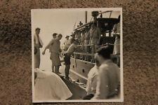 Small Original WW2 Photograph of Australian Troops on Boat w/U.S. Army Stamp
