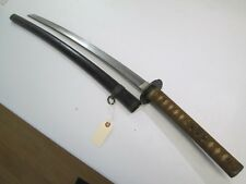 OLD JAPANESE SAMURAI SWORD WITH SCABBARD VERY ACTIVE TEMPER LINE OLD BLADE #L44
