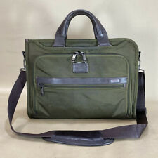 Used Tumi 'Alpha 2' Slim Deluxe Portfolio Business Brief Olive 26110OL2 $295