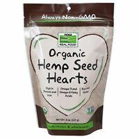 Now Foods Organic HEMP SEED HEARTS Non-GMO 8 oz OMEGA 3, PROTEIN