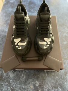 Valentino Rockrunner Men's Camo Sneakers Black Shoes Size EU 41/US 8 $895