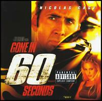 GONE IN 60 SECONDS - SOUNDTRACK CD ~ NICHOLAS CAGE~ANGELINA JOLIE~SIXTY *NEW*