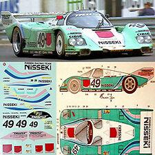 Porsche 962 Nisseki Le Mans 1991 #49 1:24 Autocollant Décalcomanie