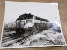8 x 10 B & W Photo Chicago Northwestern Train #4085 C engine cars  >