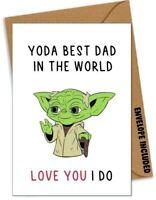 YODA FUNNY FATHER'S DAY BIRTHDAY CHRISTMAS Card Rude Dad Daddy Star Wars /LB