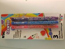SCENTED Gel Pens,  Grape, Blueberry and Strawberry