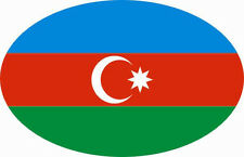 Aufkleber Aserbaidschan Oval 10 x 6,5 cm Autoaufkleber Sticker