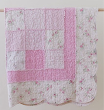 Shabby Pink Chic  Rag Floral Rose Shabby Patchwork Sofa Couch Bed Throw Blanket