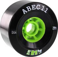 ABEC11 REFLY 97mm 74a BLACK/LIME WHEELS SET
