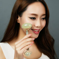 New Portable Green Jade Roller Massager Eye Face Neck Facial Relax Slimming Tool