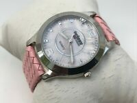Twiggy London Women Watch Pink Braided Leather Band Analog Ladies Wrist Watch