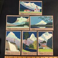 Franklin Bittner Artist Signed Deco Postcard Lot Mountain Peaks Unused Lot
