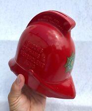 More details for rare vintage firemans helmet widows orphans & benevolent fund collection box