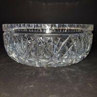 "Vintage Lead Crystal Cut Glass Trifle Bowl Serving Dish Salad Bowl 8.5"" dia. :EF"
