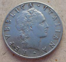 50 Lire VULCANO I° tipo  Repubblica Italiana 1954 - NC n. 888