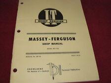 Massey Ferguson 1150 Tractor I&T Shop Manual