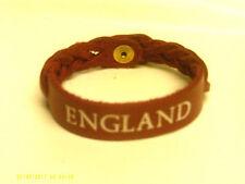 England geflochten Leder Armband rot
