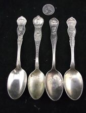 OLD SILVERPLATE SPOONS GENERAL PAU , JOFFER , SIR JOHN FRENCH  W GENERAL QUEBEC