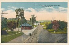 ENFIELD NH – B. & M. Railroad Station and Cardigan Mountain