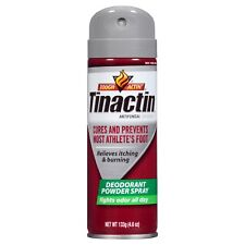 New Bayer Tinactin Tough Actin' Deodorant Powder Spray 4.6 Oz.