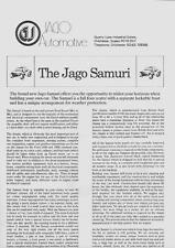 """JAGO samuri y folleto de ventas """"Sandero coche"""" hoja de 2"""