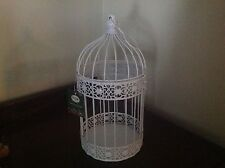 Decorative White Bird Cage Wedding Supplies 16 in Tall  NWT LED Candleholder