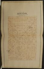 Wisconsin Juneau County Map Kingston Township 1898 Dbl Pg Dbl Side Y10#87
