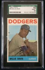1964 TOPPS WILLIE DAVIS L.A. DODGERS #68--GRADED SGC 92=8.5=NEAR MINT-MINT+!!!