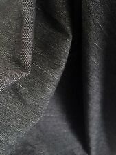 Unusual Dark Grey Herringbone Lurex Stripe Suiting Stretch Dressmaking Fabric