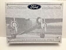 Spec Cast - 5-AT Tri-Motor Ford Airplane Bank  - Hemmings Motor News - Green