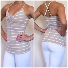 NWT Lululemon Size 4 Open Your Heart Tank Cayman Stripe Mojave