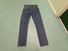 "Levi's 501 straight Jeans Waist 28"" Leg 34"" Faded Dark Blue Mens Jeans"