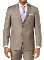 Tommy Hilfiger Mens Blazer Tan Beige Size 36 Two Button Flex Wool $450 185