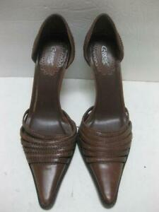CARLOS SANTANA brown leather SCOUT heels spike shoes 7 M