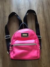 Betsey Johnson Pink & Black Small Backpack W/ Gold Accents NWOT