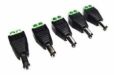 From OZ Quality 5PC 5.5mm x 2.1mm DC Male Power Plug Adaptor Connector +FREEPOST