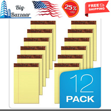 12 Pack Note Pads Jr Legal Ruled 5 X 8 Canary Yellow Small 50 Sheet Notepads