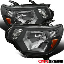 For 2012-2015 Toyota Tacoma Black Clear Headlights Head Lamps Left+Right Pair