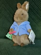 "Frederick Warne Beatrix Potter Peter Rabbit 8""-9"" Plush Toy New w/ Carrot & Tag"