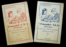 """LOT 2 LIVRET """"L'ESSENTIEL"""" MEMENTO SCOLAIRE ELEVE RECITATION POEME POESIE 1950 ?"""