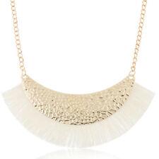 Fashion Tassel Fringe Choker Chunky Statement Pendant Necklace Chain Jewelry