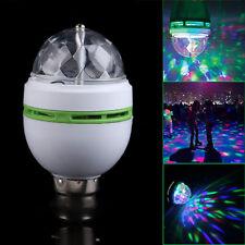 RGB B22 Ampoule LED Rotation Automatique Étape KTV Disco Color Changement Lampe