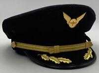 Airline Pilot Captains Hat Bernard Cap Co. 7-1/4 Clean Propeller Wings 20-2432