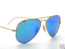 RAY BAN SunglaSSeS 3025 Rayban 112/4L Matte Gold/Mirror.Polarized AVIATORS 58